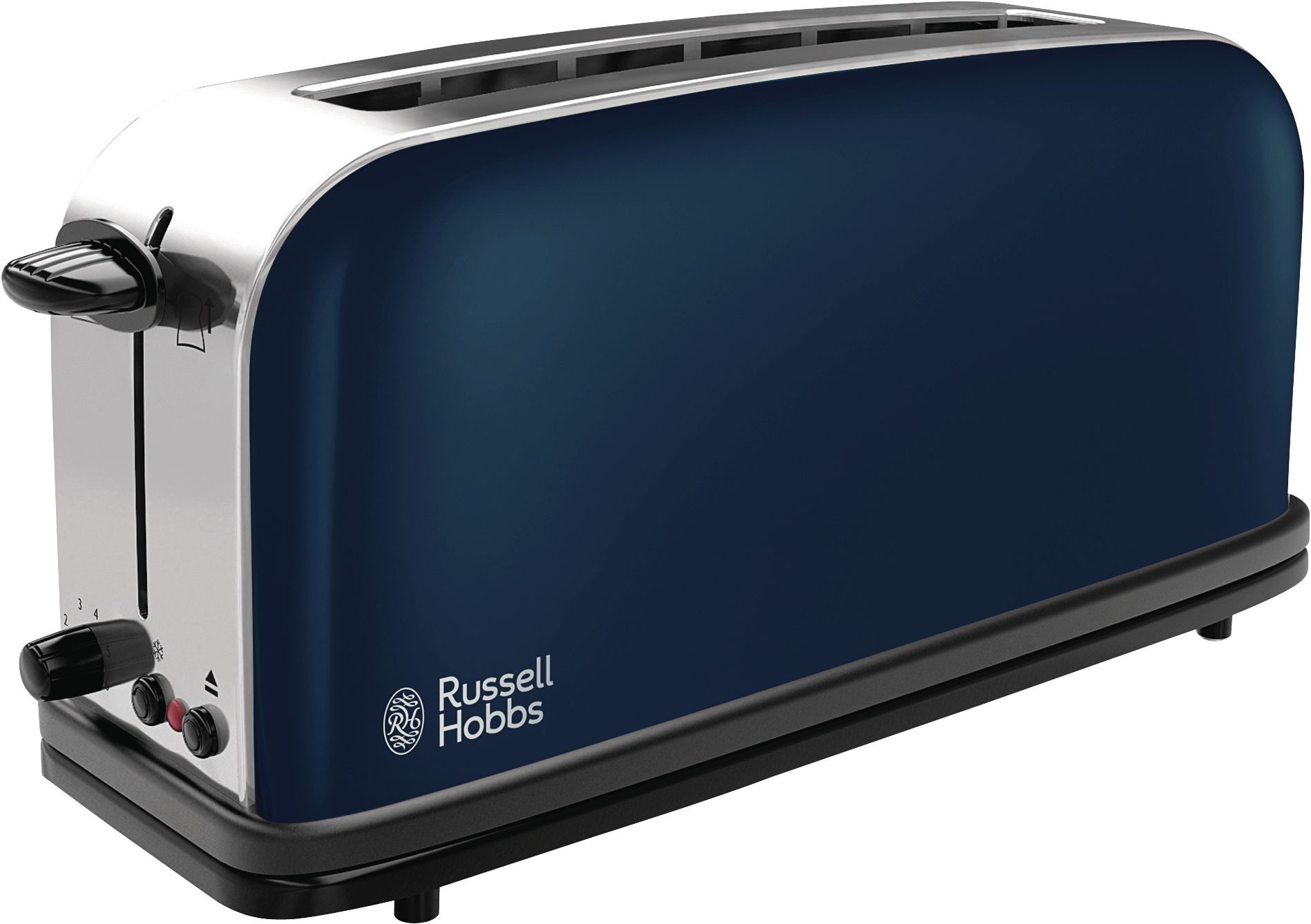 Teamsix colours royal blue langschlitz toaster blau for Tostapane russell hobbs