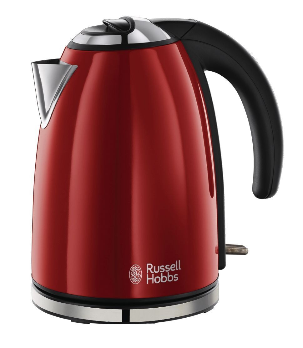 teamsix colours flame red wasserkocher rot edelstahl russell hobbs bollitori. Black Bedroom Furniture Sets. Home Design Ideas