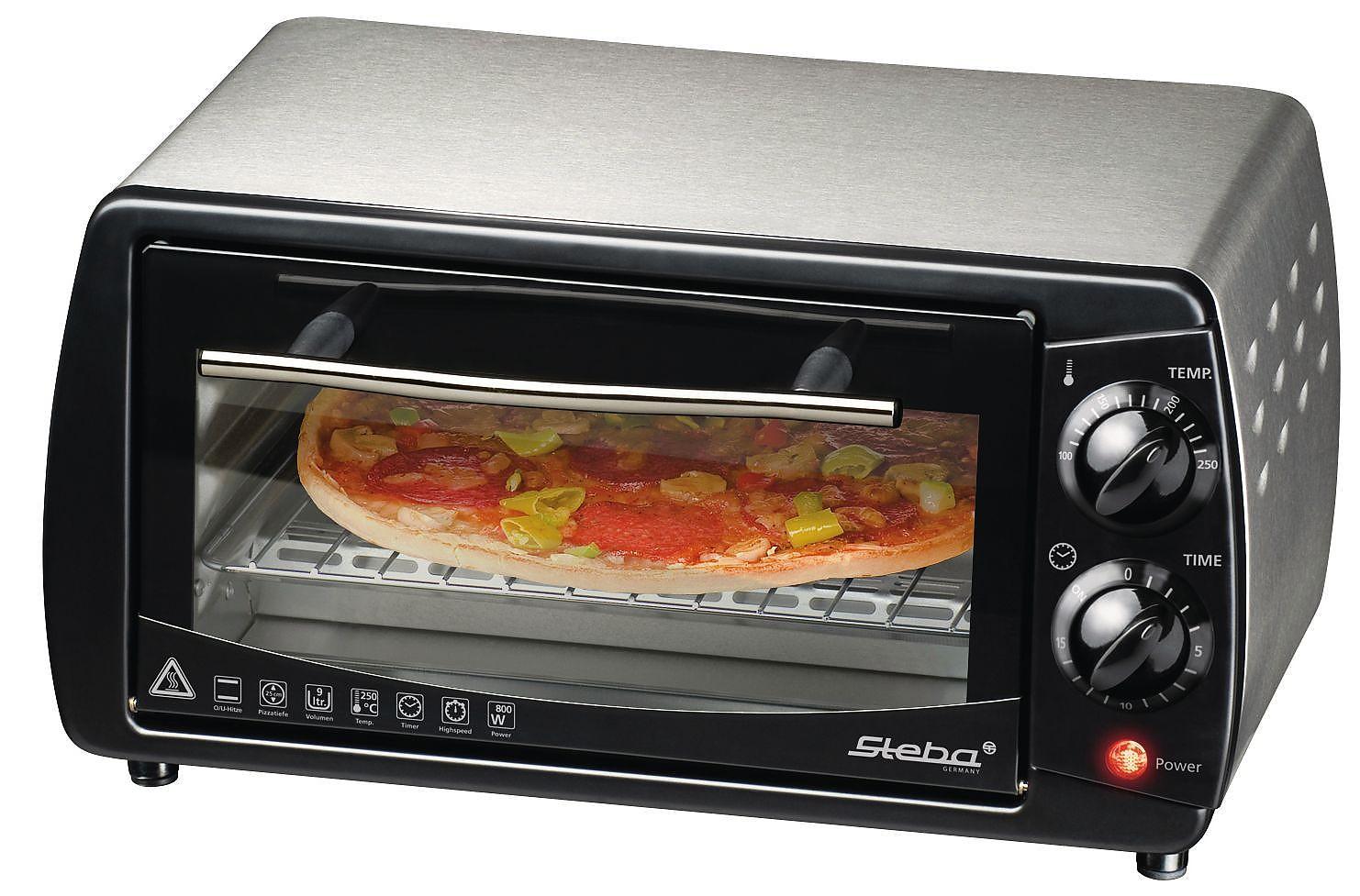teamsix kb 9 2 acciaio nero steba fornellini per toast e pizza. Black Bedroom Furniture Sets. Home Design Ideas